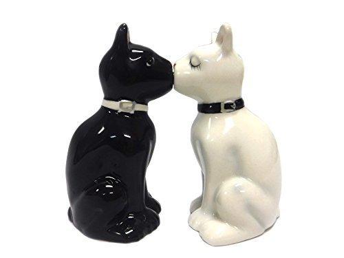 Feline Spicey Black & White Cats Salt & Pepper Shaker Set S/P