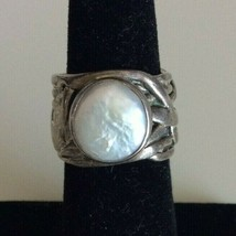 Silpada Mermaid 925 Sterling Silver Coin Pearl Ring Size 5 - $74.24