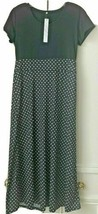 Gaovot Women's Scoop Neck Polka Dot Long-Sleeve Maxi Dress (Black, XL) - $19.79