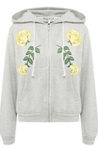 Wildfox Womens Friendship roses WHT16746Y Hoodie Relaxed HTHR Grey Size S - $94.93