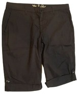 """NWT CJ by Cookie Johnson """"Clear"""" Women's Size 12/14 Black Chino Shorts - $39.55"""