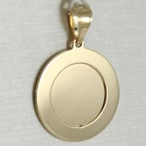 18K WHITE AND YELLOW GOLD MEDAL ROUND STYLIZED WITH  VIRGIN MARY  MADE IN ITALY  image 3