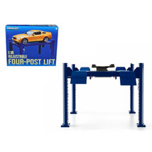 Four Post Lift Blue for 1/18 Scale Diecast Model Cars by Greenlight 12884 - $64.78