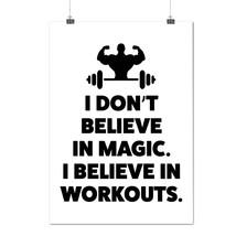 Believe Gym Workout Sport Workout Gym Matte/Glossy Poster A0 A1 A2 A3 A4... - $7.99+