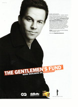 Marky Mark Wahlberg teen magazine pinup clipping gentlemens fund Gillette ad