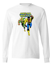 Power Man Iron Fist T-shirt Marvel Comics Luke Cage 100% cotton long sleeve tee image 2