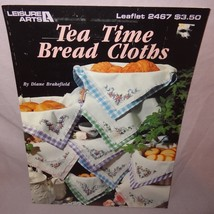 Tea Time Bread Cloths Cross Stitch Leaflet 2467 Patterns Angel 1993 Flowers - $9.99