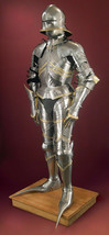 Full Body Medieval German Gothic Suit of Armor 15th Century Knight Armou... - $752.98