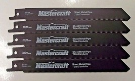 "Mastercraft By Bosch 6"" x 24 TPI Reciprocating Saw Blades 1630111 5 Pieces - $4.46"