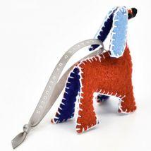Made 51 Handcrafted Afghan Hound Dog Felt Ornament Refugee Malaysia Folk Art image 4