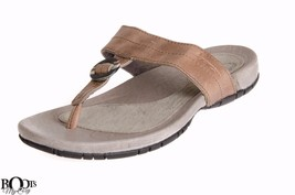 07cadc617c08 Teva Keelie Luxe Slip On T Strap Leather Brown Sandals Size Us 7 8 10 New