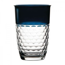 "Waterford CRYSTAL Jo Sampson Half and Half Teal 9"" Vase NEW  - $197.99"