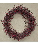 """Country Berry Wreath - 20"""" Holiday Gifting Christmas Red Door Decor  - $56.00"""