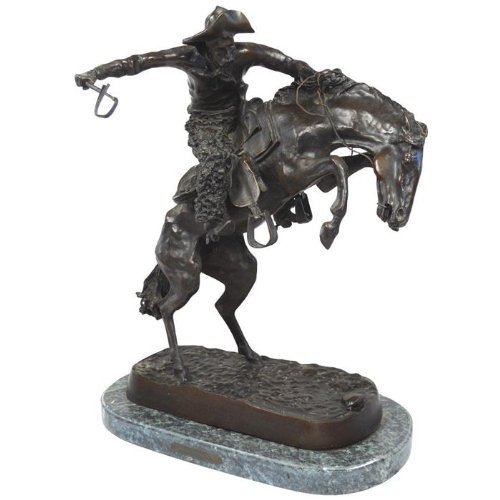 Wooly Chaps, Lost Wax Bronze Sculpture By Frederic Remington REGULAR - $1,068.19