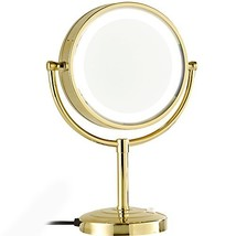 GURUN 8.5-Inch Tabletop Double-Sided LED Lighted Make-up Mirror with 10x... - $86.99