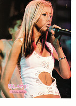 Christina Aguilera teen magazine pinup clipping white sexy top on stage blast