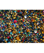Vintage Glass Rhinestones Mixed 2 oz Lot Various Colors Shapes Sizes NOS  - $7.00