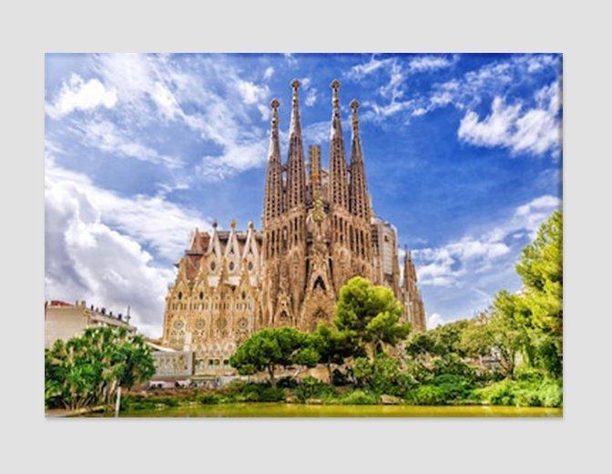Barcelona Canvas Art Catalonia Wall Art Spanish Gothic Architecture Spain Wall A