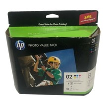 Genuine HP 02 Photo Value Pack With Six Ink Cartridges & Photo Paper EXP 07/2019 - $24.99