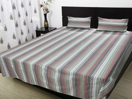 Double bedsheet with 2 pillow cloth 220 x 250 C... - $46.00