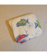 Bermuda Fish Twin Sized Fitted Sheet Pottery Barn Kid's Relaxed Elastic ... - $9.74