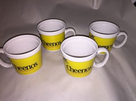 Lot of 4 Beautiful  Cheerios Cereal ceramic 8 ounce coffee mug cups - $16.10