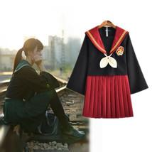 Women JK Japanese Sailor High School Uniform Suit Skirt Cosplay Costume ... - $32.99
