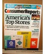Consumer Reports Magazine March 2012 America's Top Stores, Best TV's - $8.99