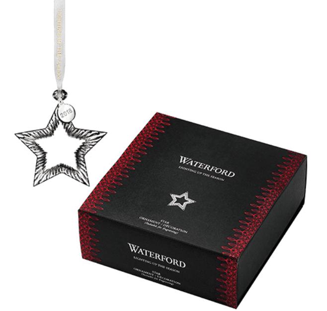 "Waterford Crystal 2018 Star Christmas Ornament 4.1"" 40030983 BNIB"