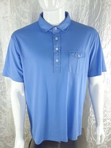Polo Ralph Lauren Men's Large Blue Label Blue Polo Shirt 100% Cotton Sz XL/TD - $11.88