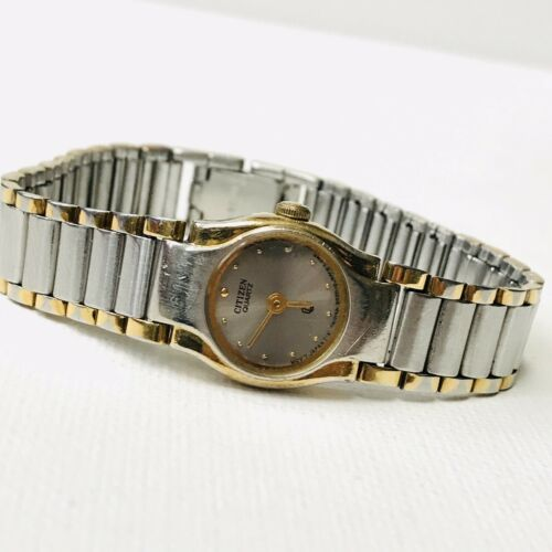 "Vintage Citizen Elegant Two Tone 6"" MAX Ladies Watch 3220-S09826 Works GREAT!!"