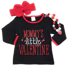 Cute Kids Clothing Co Toddler Girl Valentine's Day Mommy's Valentine T-S... - $24.99