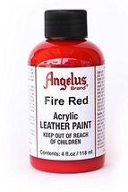 Angelus Leather Paint 4oz-Fire Red - $3.57