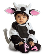 Baby Cozy Cow Halloween Costume Size 0-6 Months - $20.00