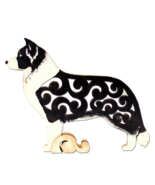 Border Collie figurine, dog statue made of wood (MDF), hand-paint - $27.90
