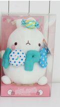 Molang Melody Plush Figure Toy Stuffed Animal Rabbit Cushion 9.8 inches (Blue) image 8