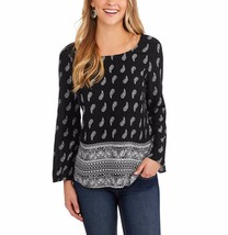 Faded Glory Women's Elevated Tunic Blouse W Cross Back Size Small 4-6 Bl... - $16.82