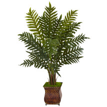 4' Evergreen Plant in Metal Planter - $111.13 CAD