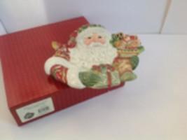 Fitz and Floyd Winter Holiday Santa Christmas Canapé Plate 19/2170 2003 - $20.00