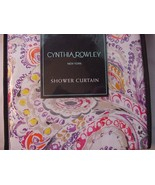Cynthia Rowley Eaton Paisley Multi-Color Fabric Shower Curtain - $37.00
