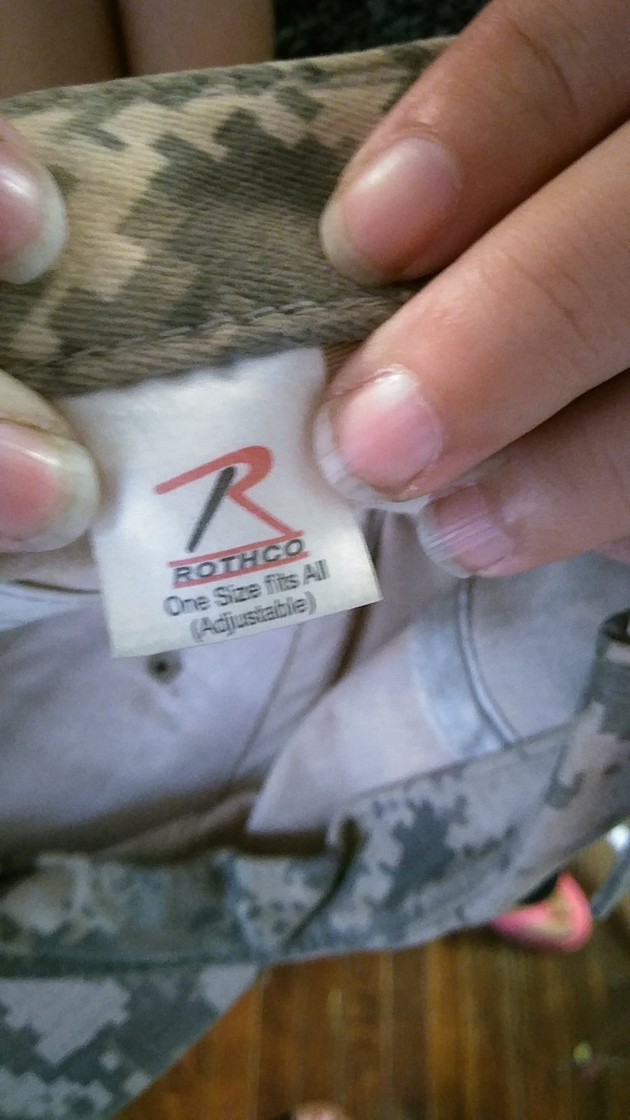 mens Rothco camo hat one size fits all adjustable JVC141