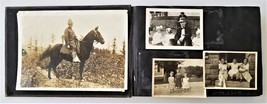 1914 antique PHOTO ALBUM worcester ma O'BRIEN FAMILY soldier children ba... - $175.00