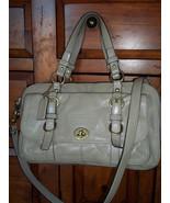 Coach Chelsea Legacy Tan Patent Leather Satchel Bag 14030 - $85.00