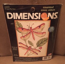 Cross Stitch Mini Kit ~ Dimensions Graceful Dragonfly Duo Nature #65029 - $7.04