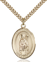 14K Gold Filled St. Ronan Pendant 1 x 3/4 inch with 24 inch Chain - $142.59