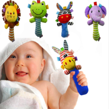 Soft Baby Toy Cartoon Animal Rattle Squeaker BB Sounder Early Educationa... - $7.38