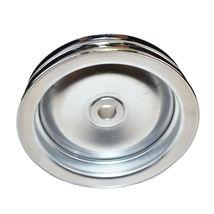 GM Saginaw Power Steering Pump Double-Groove Steel Pulley (Chrome) image 7