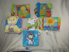 Lot Set 6 Soft Cloth First Baby Books Bright Starts Taggies Crinkle Teether Toys - $29.69
