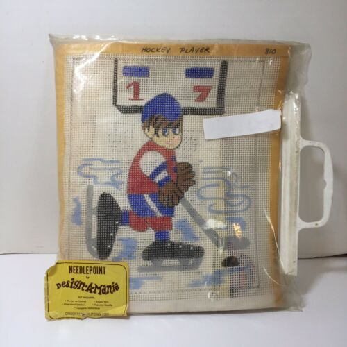 "Primary image for Ice Hockey Player Needlepoint Kit 8"" x 10"""