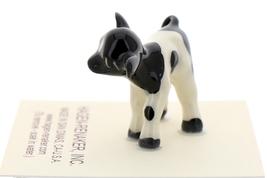 Hagen-Renaker Miniature Ceramic Cow Figurine Holstein Bull Cow and Calf Set image 6